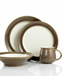 Denby Truffle 4 Piece Place Setting (Dinner, Salad, Cereal, Mug)