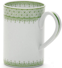 Mottahedeh Apple Green Lace Mug