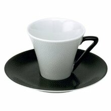 Philippe Deshoulieres Seychelles Black Coffee Cup 3 oz. and Saucer (Set of 2)