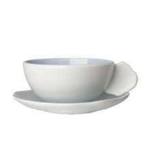 Jars Plume Ocean Blue Tea Cup 6.7 oz. & Saucer (Set of 4)