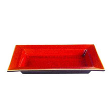 "Jars Tourron Orange Rectangular Dish L 14.2""x10.6"""