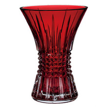 "Waterford Lismore Diamond 8"" Vase Crimson"