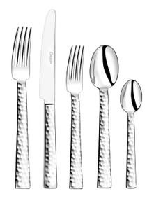 Couzon Ato Hammered Stainless Steel 5 Piece Place Setting
