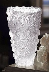 Waterford Monique Lhuillier Sunday Rose Tall Vase 10""