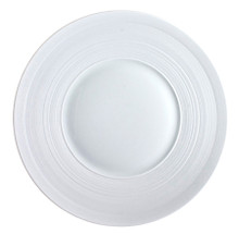 J.L Coquet Hemisphere White Charger 12.5""