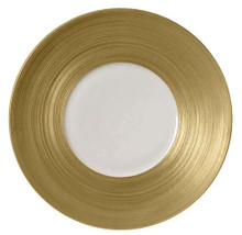 J.L Coquet Hemisphere Gold Dessert Larger Center 8 1/4""