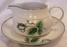 Stonegate / Heritage Midnight Rose Gravy Boat & Stand