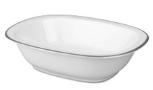 Raynaud Fontainebleau Platinum with Marly Filet Oval Vegetable Bowl
