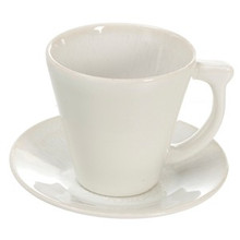 Jars Vuelta White Pearl Coffee Cup & Saucer (Set of 4)
