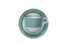 Heritage House's Mottahedeh Green Lace Tea Cup & Saucer