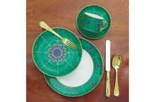 Heritage House's Mottahedeh Malachite 4 Piece Place Setting