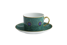 Heritage House's Mottahedeh Malachite Tea Cup & Saucer