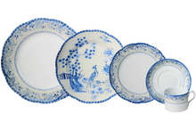 Heritage House's Mottahedeh Virginia Blue 5 Piece Place Setting