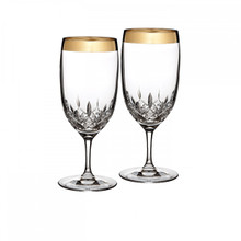Waterford Lismore Essence Gold Iced Beverage, Pair