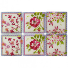 Millefleurs Acrylic Coasters Set of Six