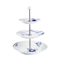 Blue Fluted Mega 3 Tier Etagere