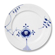 Blue Fluted Mega Dinner plate #6 10.75""