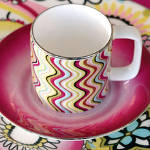 Missoni Margherita A.D. Coffee Cup 3 1/4 Oz W/ Saucer