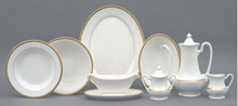 Pickard High Point Gold Round Vegetable Dish