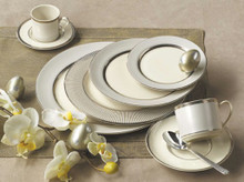 Pickard Platinum Radiance 5 Piece Place Setting