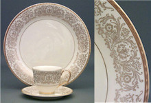 Pickard Tiara Gold Round Vegetable Dish