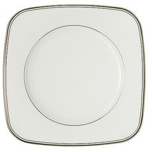 """Waterford Kilbarry Platinum Square Accent Salad Plate 9"""""""