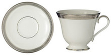 Waterford Newgrange Platinum Teacup 6 Oz & Saucer 6""