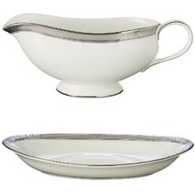 Waterford Newgrange Platinum Gravy Boat & Stand