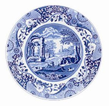 "Spode Blue Italian Dinner Plate 10.5"" - set of 6"