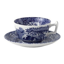 Spode Blue Italian Teacup & Saucer 7 o.z. (6 Sets)
