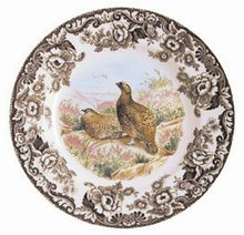 "Spode Woodland Red Grouse Salad Plate 8"" (set of 6)"