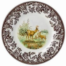"Spode Woodland American Wildlife Mule Deer Salad Plate 8"" (Set of 6)"