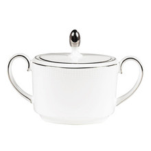 Vera Wang Blanc Sur Blanc Covered Sugar Bowl, Imperial