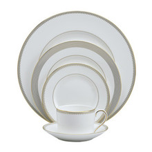 Vera Wang Golden Grosgrain 5 Piece Place Setting