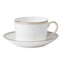 Vera Wang Golden Grosgrain Teacup & Saucer, Imperial
