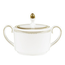 Vera Wang Golden Grosgrain Covered Sugar Bowl, Imperial