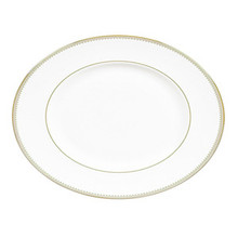 Vera Wang Golden Grosgrain Oval Platter 13.75""