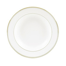 Vera Wang Golden Grosgrain Rim Soup Plate 9""