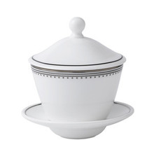Vera Wang Grosgrain Covered Teacup & Saucer