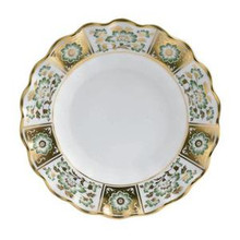 Royal Crown Derby Panel Green Fluted Dessert Plate 8.5""