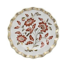 Royal Crown Derby Panel Red Accent Fluted Dessert Plate 8.5""