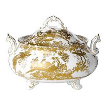 Royal Crown Derby Gold Aves Soup Tureen & Cover 3.2 Ltr.