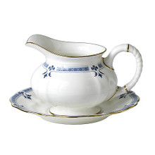 Royal Crown Derby Grenville Sauce Boat & Stand 14 Oz