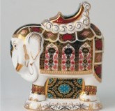 Royal Crown Derby PAPERWEIGHT - ELEPHANT L/S 8.5""
