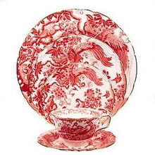 Royal Crown Derby Red Aves 5 Piece Place Setting