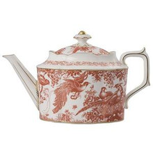 Royal Crown Derby Red Aves Teapot 1.28 Ltrr.