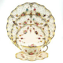 Royal Crown Derby ROYAL ANTOINETTE 5 PIECE PLACE SETTING