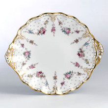 Royal Crown Derby ROYAL ANTOINETTE CAKE PLATE 9""