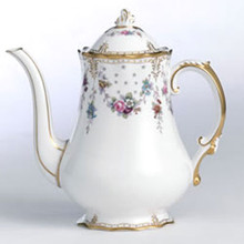 Royal Crown Derby ROYAL ANTOINETTE COFFEE POT LARGE SIZE 38 oz. / 6 cup capacity
