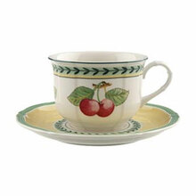 Villeroy & Boch French Garden Fleurence After Dinner Cup & Saucer (Set of 4)